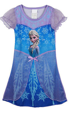 Frozen Night Dress Nightie Blue Disney Elsa new Summer Dress UK STOCK nightdress