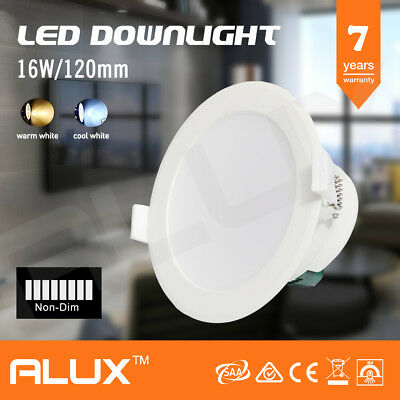16W Ip44 Led Downlight 120Mm Cutout Warm Cool White Non-Dimmable Saa