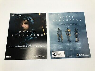 Death Stranding Digital Deluxe Content And Timefall Music Album Kojima PS4