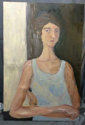 Funky Portrait Oil Painting Woman Young Girl Teenager Female Surrealist Art Lady