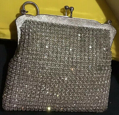 OROTON Vintage Diamante Crystal Encrusted Evening Bag Made In W. Germany #804