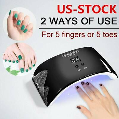 24W Nail Dryer Nail Light Lamp UV LED Gel Smart LED Quick Drying Induction Spa