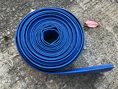 DISCHARGE PIPE PUMP LAY FLAT IRRIGATION BLUE PVC LAYFLAT WATER DELIVERY HOSE