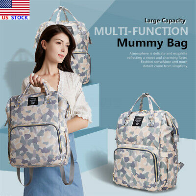 LEQUEEN Baby Diaper Bag Mummy Maternity Nappy Travel Backpack Large Capacity US