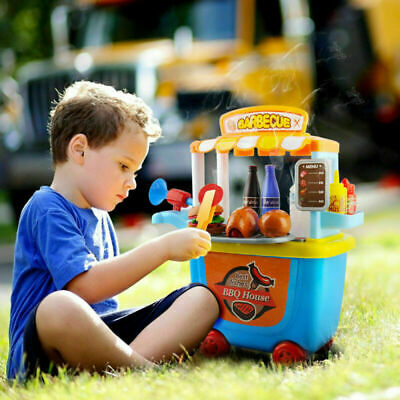 Kids Toy Pretend Role Play BBQ Barbecue Shopping Food Hamburg Sets Children Gift