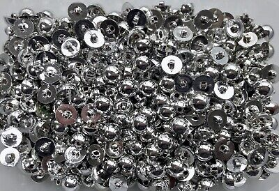 S22 Small 11mm 18L Black Polished Shank Buttons Children Craft Scrap Book