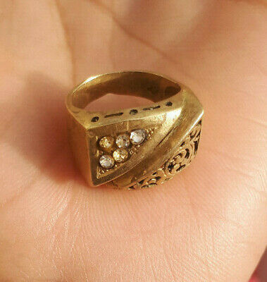 EXTREMELY Ancient authentic copper BRONZE RING museum quality ARTIFACT.