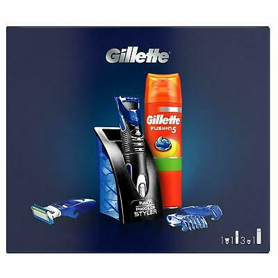 Gillette Fusion All Purpose Styler and Fusion5 Sensitive Shaving Gel Gift Set