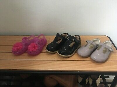 3 Pairs Of Girls shoes- Clark's, F&F And George - New Or Used Once