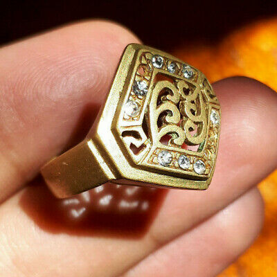 Rare Ancient medieval authentic Bronze Ring Musueum Quality Artifact.