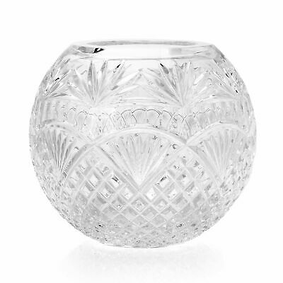 "Waterford Crystal Cecily 8"" Hand-Finished Rose Bowl"