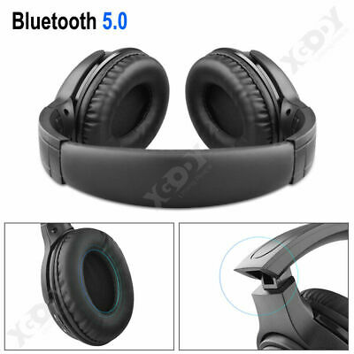 Over the Ear Foldable Headphone Super Bass Gaming Headset Wired Earphone w/ Mic