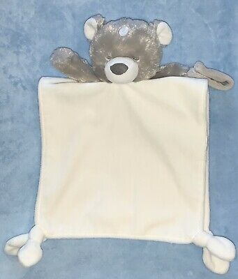 Carters Deer Fawn Baby Security Blanket Cream White Pacifier Holder Knot Rattle