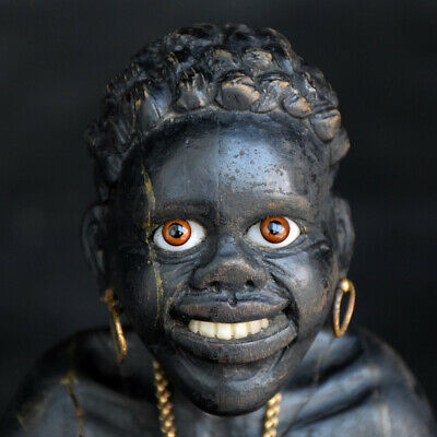 19th Century Carved Wood Italian Blackamoor Figure