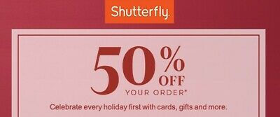 Shutterfly Code: 50% Off Everything, One Regular Priced Order, Exp 12/31/19