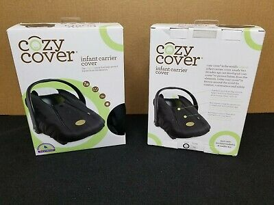 Cozy Cover Infant Carrier Cover - Secure Baby Car Seat Cover - Black