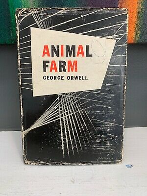ANIMAL FARM by George Orwell FIRST AMERICAN EDITION first printing in dustjacket