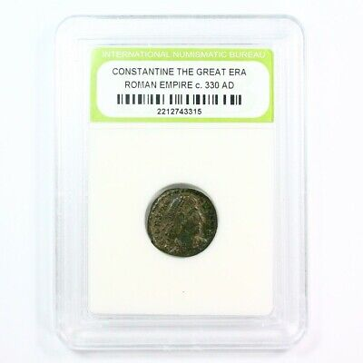 Ancient Roman Constantine The Great Era Ancient Bronze Coin c. 330 A.D. Free S&H