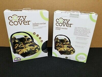 Cozy Cover Infant Carrier Cover - Secure Baby Car Seat Cover - Camo Camouflage