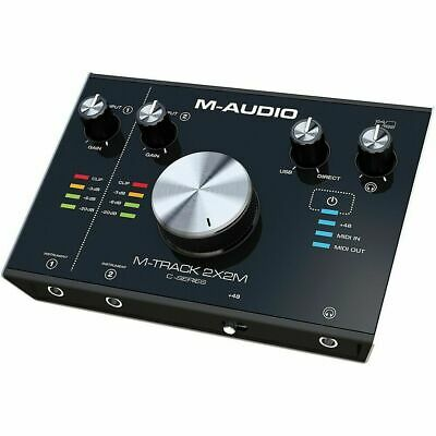 M-Audio M-Track 2x2M C-Series USB-C Audio Recording MIDI Interface