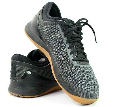 Reebok Crossfit Nano 8.0 Black Alloy Gum Flexweave Cross Trainer Womens Size 8