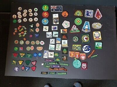 scout badges - assorted box - BUYER MUST COLLECT SURRY HILLS NSW
