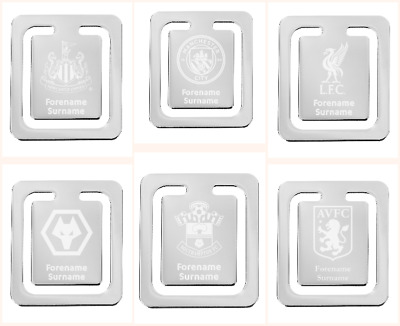 Personalised Football Team Engraved Bookmark Official - Choose Team FC