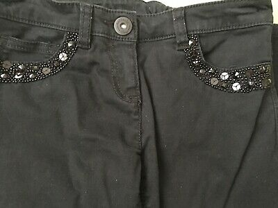 Great Girls Black Stretchy Trousers by Next - Age 9