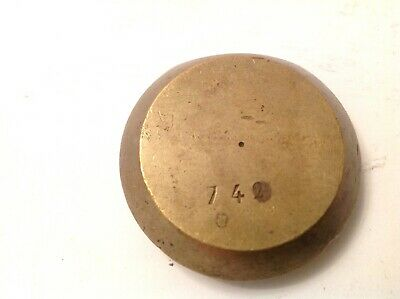 Antique French Clock Brass Pendulum Bob 92g 43mm Diameter  For Spare Parts