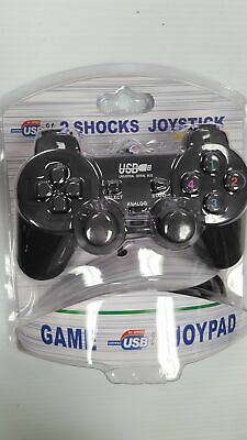Computer Gaming USB Dual Shock Joystick for Windows PCs - Wired - BRAND NEW