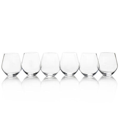 Mikasa Gianna Set of 6 All Purpose Stemless Wine Glasses