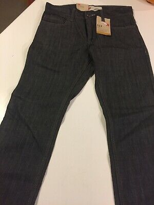 Boys Levis 511 Regular Jeans Denim Size 14 Regular 27 x 27 Dark Grey Skinny NWT