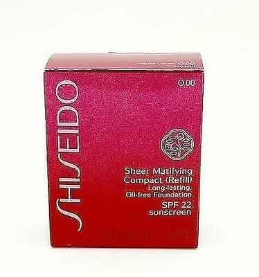Shiseido Sheer Matifying Compact Refill ~ O00 Very Light Orche, 9.8g,  NIB