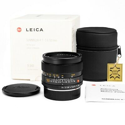 Leica 50mm f/1.4 Summilux-R E55 11343-ROM Last Issue #372... *MINT*