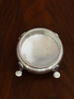 - James Robinson Sterling Silver Footed Cauldron Salt Cellar New York City