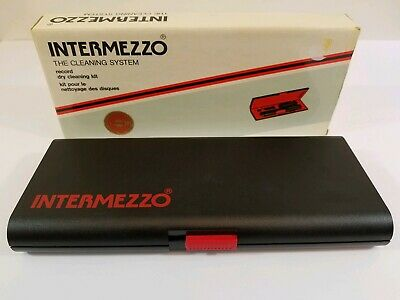 Vintage Intermezzo Record Dry Cleaning Kit With Box Static Cleaning EUC 1985