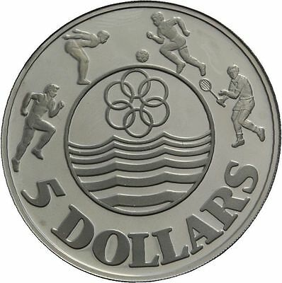 1983 Singapore Large silver Proof Sea Games/Athletes