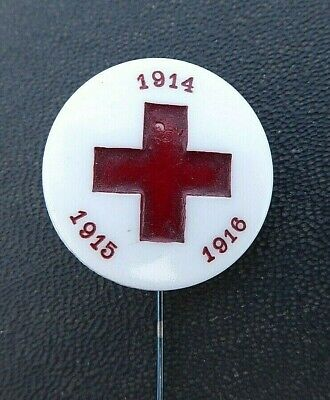 Ww1 Aif Australian Red Cross 1914-15-16 Button Day Badge Made From Milk Glass
