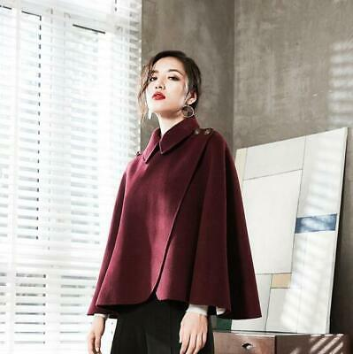 High-end women cape alpaca wool double-sided cashmere coat cloak jakcet outwear