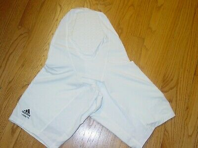 Mens XL Adidas Compression Padded Shorts Basketball Football White Climacool