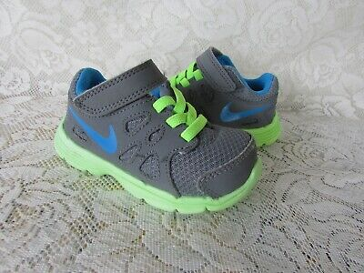 NIKE size US 5 c Grey/ Green Runners As New
