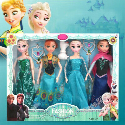 New 31cm Toys Princess Anna& Elsa Doll Girls 12 Movable Joints Birthday Gifts