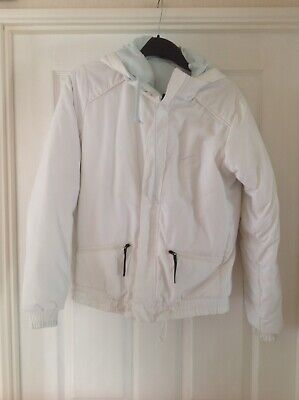 GIRLS/LADIES White Padded Jacket With Removable Hood Size M Height 168cm By NIKE