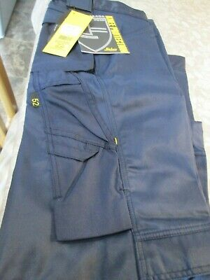 Snickers Navy Work Trousers 38 Waist 32 Leg New