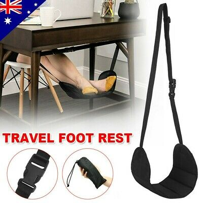 Travel Foot Rest Footrest Leg Foot Pillow Flight Memory Cushion Sling Hammock-AU