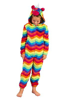 Girls Multi Colour Unicorn 1Onesie All In One Kids Dress Up Onezee Pyjamas Pjs