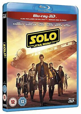 Solo: A Star Wars Story (3D + 2D Blu-ray, 3 Discs, Region Free) *NEW/SEALED*