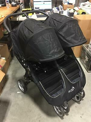 Baby Jogger City Mini Double Seat Folding Baby Stroller in Black