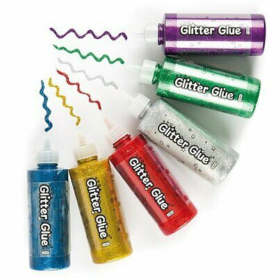 NEW Jumbo Glitter Glue Pack Of 6 For Kids To Decorate Arts And Crafts Th UK FAS