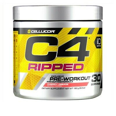 CELLUCOR C4 RIPPED Pre Workout Fat Burning Formula AKG Alanine Carnitine 30serv